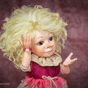 Elf figura, porcelán testű baba kabala - Bianka a balerina, Képzőművészet, Esküvő, Dekoráció, Szobor, Baba-és bábkészítés, Kerámia, Elf figura kabala - Bianka a balerina  Biankának volt egy álma: Ő lesz az elfek balerinája. Kicsino..., Meska