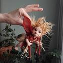 Kobold figura kabala - Totó a baby kobold - porcelán testű baba, Baba-mama-gyerek, Képzőművészet, Dekoráció, Esküvő, Baba-és bábkészítés, Kerámia, Kobold figura kabala - Totó a baby kobold   Íme a kedvenc: Totóka, ki egy édes koboldka. Minden búd..., Meska