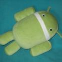 Android plüss , Baba-mama-gyerek, Játék, Plüssállat, rongyjáték, Varrás,  30 cm magas plüss Android , tömése antiallergén szilikonos tömővatta , szeme felvarrt mozgó pupill..., Meska