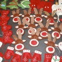 Filcből készült karácsonyi díszek , Dekoráció, Karácsonyi, adventi apróságok, Ünnepi dekoráció, Karácsonyi dekoráció, Varrás, Jó minőségű gyapjúfilcből  készült, kézzel varrt többféle karácsonyi dísz., Meska