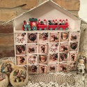 Adventi kalendárium, Baba-mama-gyerek, Dekoráció, Karácsonyi, adventi apróságok, Ünnepi dekoráció, Adventi naptár, Decoupage, szalvétatechnika, Az év legizgalmasabb időszaka a december , az adventi kalendáriumnak pedig szinte már hagyománya va..., Meska