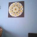Bőség Mandala, Képzőművészet, Otthon, lakberendezés, Festmény, Falikép, Festészet, Nappali dísze lehet ez a nagyméretű ( 76 x 76 cm) akril festékkel fára festett és lakkozott mandala..., Meska