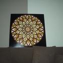 3Dvirág Mandala, Képzőművészet, Otthon, lakberendezés, Festmény, Falikép, Festészet, Nappali dísze lehet ez a nagyméretű ( 76 x 76 cm) akril festékkel fára festett és lakkozott mandala..., Meska