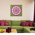 Szívcsakra Mandala, Képzőművészet, Otthon, lakberendezés, Festmény, Falikép, Festészet, Nappali dísze lehet ez a nagyméretű ( 76 x 76 cm) akril festékkel fára festett és lakkozott mandala..., Meska