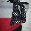 Színharmónia  táska - klasszikus szinekkel - rendelhető, Táska, Ruha, divat, cipő, Válltáska, oldaltáska, Női ruha, Varrás,        Erős strapabíró táska a mindennapokra. Fekete-sötétpiros-szürke szinekkel. Pöttyös anyagból ..., Meska