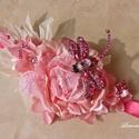 """""""Mesés kert"""" szitakötős strasszos alkalmi öv, ruhadísz , Esküvő, Ruha, divat, cipő, Hajdísz, ruhadísz, Öv, Virágkötés, Ragyogó meleg színeket válogattam össze ennek a virág kompozíciónak az elkészítéséhez. Saját kézzel..., Meska"""