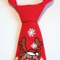 Karácsonyi hangulatú nyakkendő 0-7 éveseknek, Baba-mama-gyerek, Ruha, divat, cipő, Gyerekruha, Gyerek (4-10 év), Varrás, Festett tárgyak, A nyakkendőket saját szabásminta alapján, magam varrom és kézzel (ecsettel) festem.   3 méretben ké..., Meska