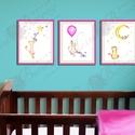 Babaszoba Dekoráció, Cica festmény, Baba-mama-gyerek, Gyerekszoba, Baba-mama kellék, Otthon, lakberendezés (LindaButtercup) - Meska.hu