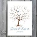 Esküvői ujjlenyomat fa kép feszített vásznon, A2, Esküvői fa, szerelmes madár pár, Emlék, Esküvői dekor, Esküvő, Esküvői dekoráció, Meghívó, ültetőkártya, köszönőajándék, Nászajándék, Fotó, grafika, rajz, illusztráció, Papírművészet, Esküvői ujjlenyomat fa feszített vásznon.  Mérete: kb. A2 (60x40cm)  Kisebb vagy nagyobb méretet is..., Meska