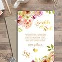 Esküvői meghívó, Virágos Esküvői lap, Esküvő Képeslap, rózsa, zöld, arany, meghívó, natúr, vízfesték, levelek, nyári, Esküvő, Naptár, képeslap, album, Meghívó, ültetőkártya, köszönőajándék, Képeslap, levélpapír, Esküvői Virágos meghívó borítékkal.  Hívd meg vendégeidet ezzel a gyönyörű Esküvői  meghívóval.  * M..., Meska