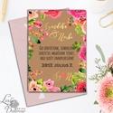Esküvői meghívó, Virágos Esküvői lap, Esküvő Képeslap, rózsa, zöld, arany, barna meghívó, natúr, természet, levelek, Esküvő, Naptár, képeslap, album, Meghívó, ültetőkártya, köszönőajándék, Képeslap, levélpapír, Esküvői Virágos meghívó borítékkal.  Hívd meg vendégeidet ezzel a gyönyörű Esküvői  meghívóval.  * M..., Meska