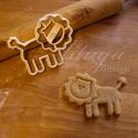 Állatos sütemény kiszúró forma - Oroszlán (kicsi), Konyhafelszerelés, Baba-mama-gyerek, Fotó, grafika, rajz, illusztráció, Mindenmás, Oroszlánt formázó sütemény kiszúrót / szaggatót készítettünk, nagyon aranyos grafikával. Gyermek sz..., Meska