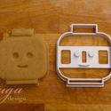 Legofej  sütemény kiszúró forma - Mosolygós, Konyhafelszerelés, Baba-mama-gyerek, Fotó, grafika, rajz, illusztráció, Mindenmás, Lego figura fejét formázó sütemény kiszúró / szaggató forma. Gyermek szülinapi zsúrokra ideális, gy..., Meska