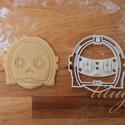 Star Wars - C3PO alakú sütemény kiszúró forma, Konyhafelszerelés, Férfiaknak, Konyhafőnök kellékei, Fotó, grafika, rajz, illusztráció, Mindenmás, Star Wars süti, sütemény / C3PO  C3PO-t is megalkottuk sütemény kiszúrónak / szaggató formának.  St..., Meska