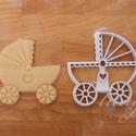 Babakocsi -  Babaváró egyedi sütemény kiszúró forma, Konyhafelszerelés, Baba-mama-gyerek, Fotó, grafika, rajz, illusztráció, Mindenmás, Különleges, egyedi babaváró, kisbaba érkezését ünneplő, jelképező sütemény kiszúró, keksz készítő f..., Meska