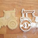 Traktor sütemény kiszúró forma - Járművek, teherautó, Konyhafelszerelés, Baba-mama-gyerek, Karácsonyi, adventi apróságok, Fotó, grafika, rajz, illusztráció, Mindenmás, Járműves sorozatunk következő tagja: traktort formázó sütemény kiszúró / szaggató forma.   Gyermek ..., Meska