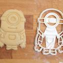 Minion, minyon sütemény kiszúró keksz forma - S, Konyhafelszerelés, Baba-mama-gyerek, Karácsonyi, adventi apróságok, Fotó, grafika, rajz, illusztráció, Mindenmás, Természetesen a minion-ok is megihlettek minket: a mókás kis figurákat is süti formába öntöttük :) ..., Meska