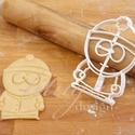 Stan Marsh (South Park) sütemény kiszúró keksz forma, Konyhafelszerelés, Férfiaknak, Konyhafőnök kellékei, Fotó, grafika, rajz, illusztráció, Mindenmás, A South Park figuráit sem hagyhattuk ki... ő itt Stan  :)   sütemény kiszúró keksz linzer  forma   ..., Meska