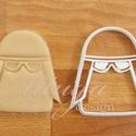 Star Wars - NEW, az új Snow trooper alakú sütemény kiszúró forma, Konyhafelszerelés, Férfiaknak, Konyhafőnök kellékei, Fotó, grafika, rajz, illusztráció, Mindenmás, Az új SW Snow trooper-t  formázó sütemény kiszúrót is el kellett készítenünk :)    Kb. 8cm magas x ..., Meska