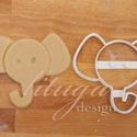 Elefánt fej - Állatfej sütemény kiszúró, kekszforma, linzer, Konyhafelszerelés, Baba-mama-gyerek, Fotó, grafika, rajz, illusztráció, Mindenmás, Állatos keksz kiszúró sorozatunk következő tagja: most aranyos elefánt fejet formázó sütemény/keksz..., Meska