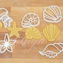 Tengeri szett sütemény kiszúró, linzer, mézeskalács forma, keksz forma, Konyhafelszerelés, Baba-mama-gyerek, Fotó, grafika, rajz, illusztráció, Mindenmás, Tengeri formákat tartalmazó sütemény mézeskalács kiszúró / szaggató , linzer, keksz forma szett.   ..., Meska