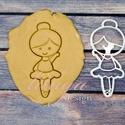 Kis balerina sütemény linzer keksz kiszúró forma - mézeskalács forma, Konyhafelszerelés, Baba-mama-gyerek, Fotó, grafika, rajz, illusztráció, Mindenmás, Balerina formájú sütemény forma balerina keksz, balerina mézeskalács, balerina linzer, balerina süt..., Meska