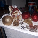 Asztaldísz, Dekoráció, Karácsonyi, adventi apróságok, Ünnepi dekoráció, Karácsonyi dekoráció, , Meska