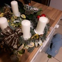 Adventi koszorú, Dekoráció, Karácsonyi, adventi apróságok, Ünnepi dekoráció, Karácsonyi dekoráció, , Meska