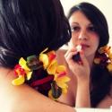 Extra különleges koszorúslány csuklódísz - Rendelhető!, Esküvő, Esküvői ékszer, Virágkötés, Multifunkcionális viráginda sárga-pink selyemorchideákkal, műlevelekkel és gyöngyökkel. Tekerd a ke..., Meska