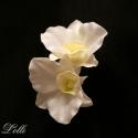 Dupla orchideás menyasszonyi fejdísz, Esküvő, Ruha, divat, cipő, Hajdísz, ruhadísz, Hajbavaló, Dupla orchideás menyasszonyi fejdísz  Teljesen élethű bársonyos tapintású selyem orchideákból készül..., Meska