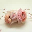 Egyedi menyasszonyi fejdísz - Rendelhető!, Esküvő, Ruha, divat, cipő, Hajdísz, ruhadísz, Hajbavaló, Virágkötés, Ékszerkészítés, Romantikus rózsás fejdísz fém fésűn. Kizárólag ebben a színben készül! amennyiben hasonlót szeretné..., Meska
