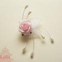 Pink-Rózsaszín gyöngyös  menyasszonyi csokor szett, Esküvő, Esküvői csokor, Virágkötés, Menyasszonyi csokor  Fehér, rózsaszín, világos pink habrózsából kötöm,  tekla gyöngyfüzérrel díszít..., Meska