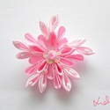 Rózsaszín virágfejdísz kislánynak, Ruha, divat, cipő, Baba-mama-gyerek, Hajbavaló, Hajcsat, Tökéletes kiegészítő egy kislánynak esküvőre, ünnepi alkalomra. A rózsaszín virágfejdíszt kézzel kés..., Meska