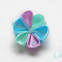 Icecream  hajdísz 1#, Ruha, divat, cipő, Baba-mama-gyerek, Hajbavaló, Hajcsat, Ez a csini fagylaltszínekben pompázó virág fejdísz, kislányoknak készült színes hajcsipeszre, hűs ké..., Meska