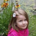 Icecream  hajdísz 2#, Ruha, divat, cipő, Baba-mama-gyerek, Hajbavaló, Hajcsat, Ez a csini fagylaltszínekben pompázó virág fejdísz, kislányoknak készült színes hajcsipeszre, lágy r..., Meska