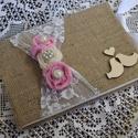 Esküvői vendégkönyv/emlékkönyv, Esküvő, Dekoráció, Esküvői dekoráció, Mindenmás, Tedd még egyedibbé az esküvődet evvel a csodás rózsás esküvői vendégkönyvvel/emlékkönyvvel.  A/5 ös..., Meska