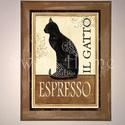 Kávés falikép, Dekoráció, Otthon, lakberendezés, Kép, Falikép, Mindenmás, Kasírozott, Mdf táblakép. 20x15cm. Rögzítés képakasztóval vagy képragasztóval, a vásárló dönti el, ..., Meska