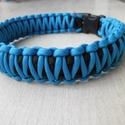 King- cobra nyakörv, Állatfelszerelések, Kutyafelszerelés, Csomózás, Kék - fekete színű, king  - cobra mintával, paracord zsinórból készült nyakörv. Szélessége: 3 cm Bá..., Meska