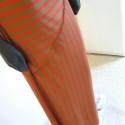 Piros  csíkos  szoknya, Ruha, divat, cipő, Női ruha, Szoknya, Varrás, A csíkok írányának variálásával készítettem ezt az art deco ihletésű pamutjersey szoknyát. Egyik ol..., Meska
