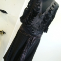 Fekete barna csíkos gatyó, Ruha, divat, cipő, Női ruha, Nadrág, Varrás, Kényelmes őszi viselet ez az érdekes szabású nadrág. Csizmával dekoratív megjelenést biztosít. Derék..., Meska