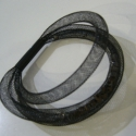 FEKETE HÁLÓS KARKÖTŐ, Ékszer, óra, Karkötő, Mindenmás, Fekete  hálószerű anyagból készítettem ezt a karkötőt. Belsejébe gyöngyöket rejtettem., Meska