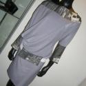 Kékes színű aszimmetrikus ruha, Ruha, divat, cipő, Női ruha, Ruha, Varrás, Kétféle anyag kombinációjával készítettem ezt az aszimmetrikus szabású ruhát.Mérete M-es, Meska