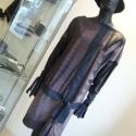Batikolt anyagú zippzáros ruha, Ruha, divat, cipő, Női ruha, Ruha, Varrás, Batikolt hatású pamutjersey és textilbőr  kombinációjából készítettem ezt a  ruhát. Mérete M-es L-e..., Meska