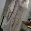 Nyers anyaggal kombinált pulcsi, Ruha, divat, cipő, Női ruha, Felsőrész, póló, Kötés, Varrás, Gépi kötés és pamutjersey anyag kombinálásával készítettem ezt a lenge nyári pulcsit. Legingsszel,fa..., Meska