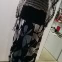 Virágos ,kék  betétes pamut szoknya, Ruha, divat, cipő, Női ruha, Szoknya, Varrás, Azonos mintájú anyag kétféle színvariációjával készítettem  ezt a pamutjersey nyári szoknyát. Hátul ..., Meska