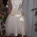 Menyasszonyi, alkalmi, báli ruha, elegáns., Esküvő, Ruha, divat, cipő, Menyasszonyi ruha, Esküvői ruha, Varrás, Saját, egyedi tervezésű menyasszonyi, alkalmi, báli ruhát kínálok. Anyaga selyem, tüll, csipke. Hát..., Meska
