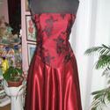 Menyecske, báli, alkalmi ruha, bordó- fekete, Esküvő, Ruha, divat, cipő, Menyasszonyi ruha, Esküvői ruha, Varrás, Egyedi tervezésü, két részes alkalmi, báli, menyecske ruha. Anyaga selyem, francia csipke. Szoknya ..., Meska