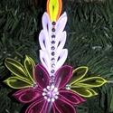 Szaténból készült kézműves gyertya Karácsonyfadísz 14 cm-es bordó, Dekoráció, Karácsonyi, adventi apróságok, Ünnepi dekoráció, Karácsonyfadísz, , Meska