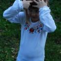 Matyó Leányka hosszú ujjú gyermekpóló, Baba-mama-gyerek, Ruha, divat, cipő, Gyerekruha, Varrás, Hímzés, 100% rugalmas pamutból saját szabásminta alapján készítettük ezt a kis pólót. 40C fokon gépben mosh..., Meska
