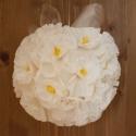 Esküvői virággömb dekoráció, Dekoráció, Esküvő, Dísz, Ünnepi dekoráció, Papírművészet, Mindenmás, Nagy belmagasságú teret, illetve szabadban tartott esküvői szertartást varázsolhatunk meghittebbé, ..., Meska